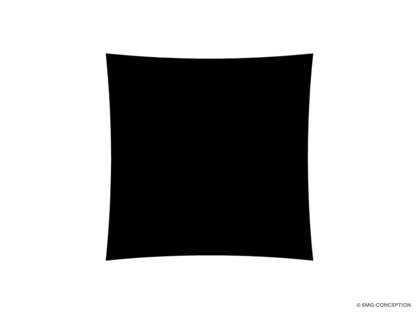 Voile d'ombrage carrée sur mesure