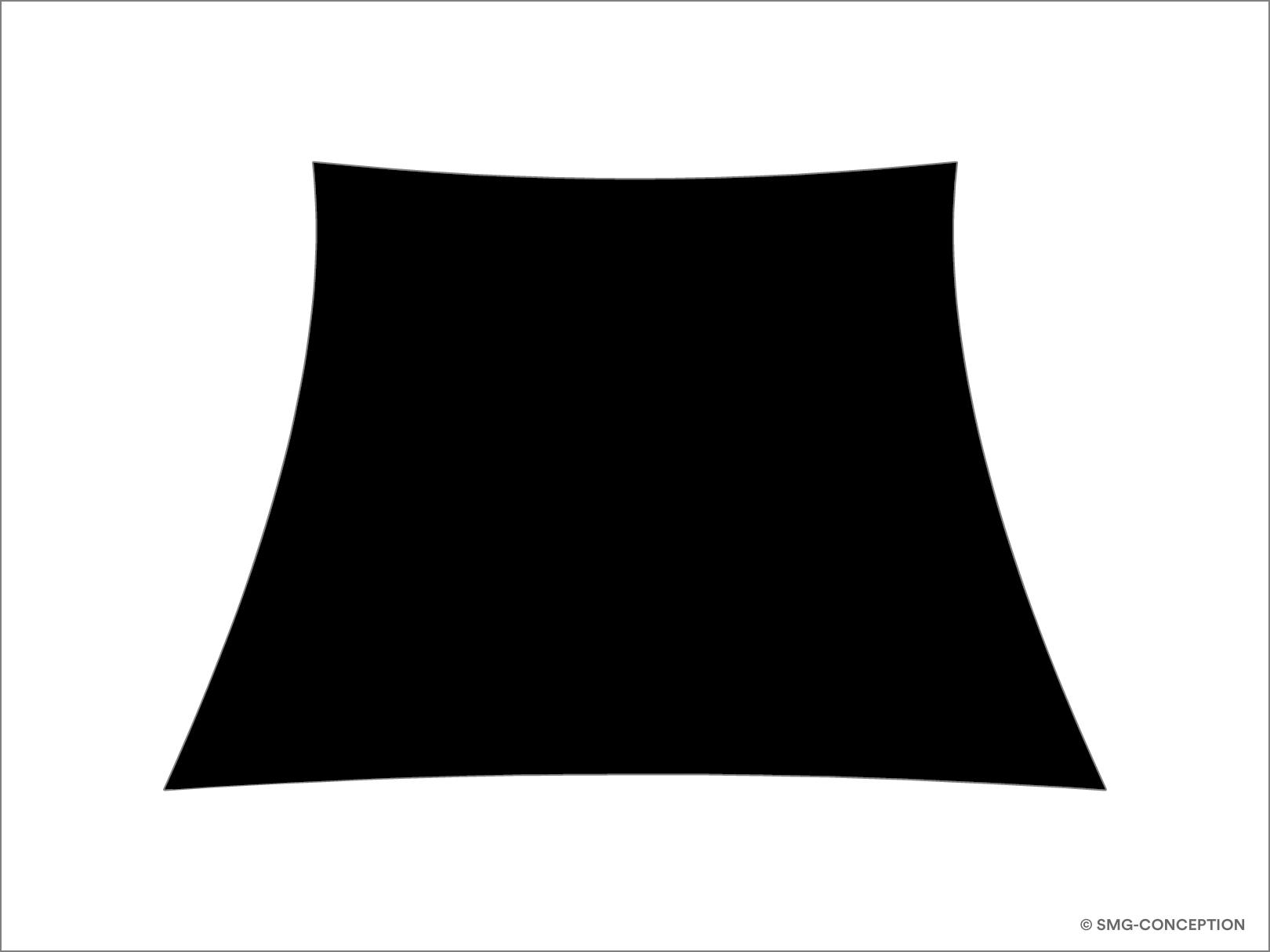 Voile d'ombrage trapèze sur mesure