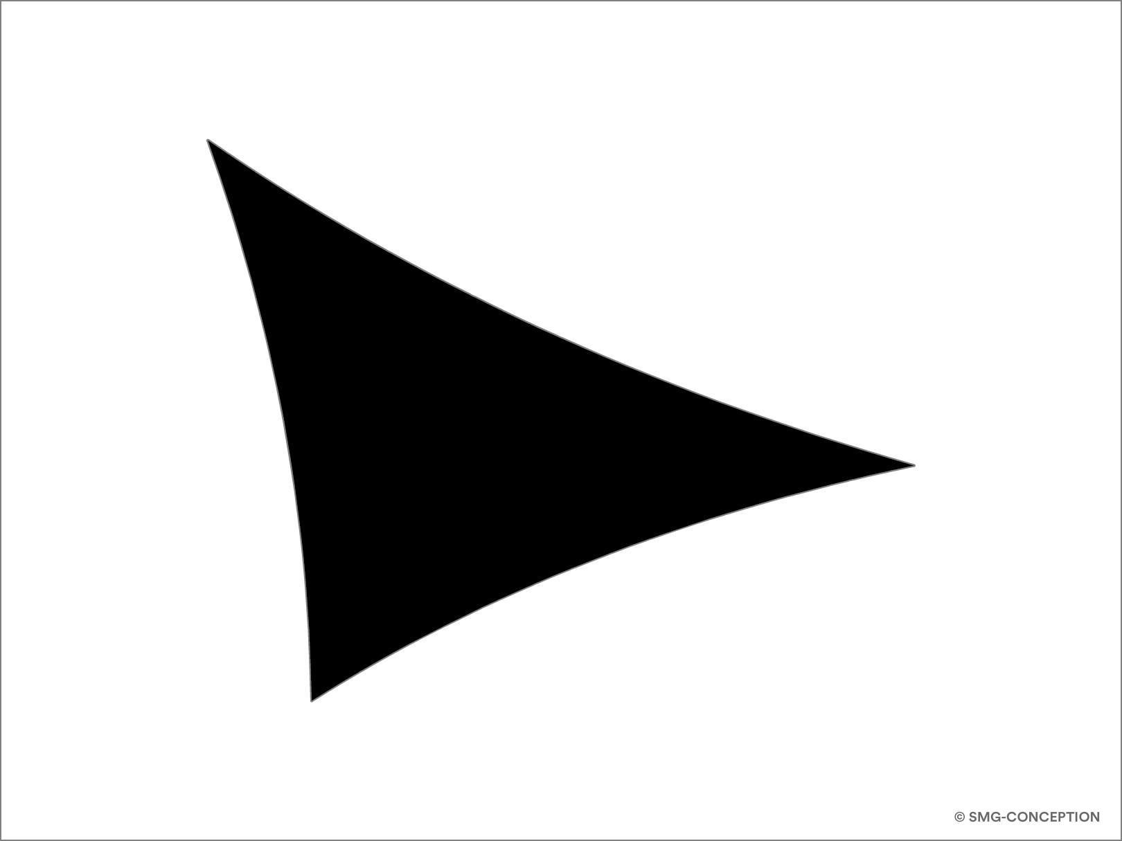 Voile d'ombrage triangle sur mesure