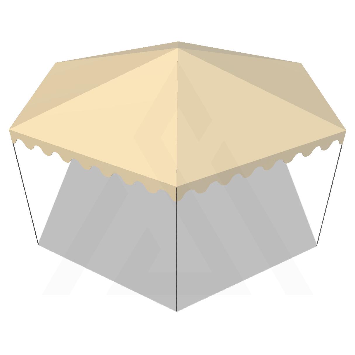 Bâche tonnelle hexagonale