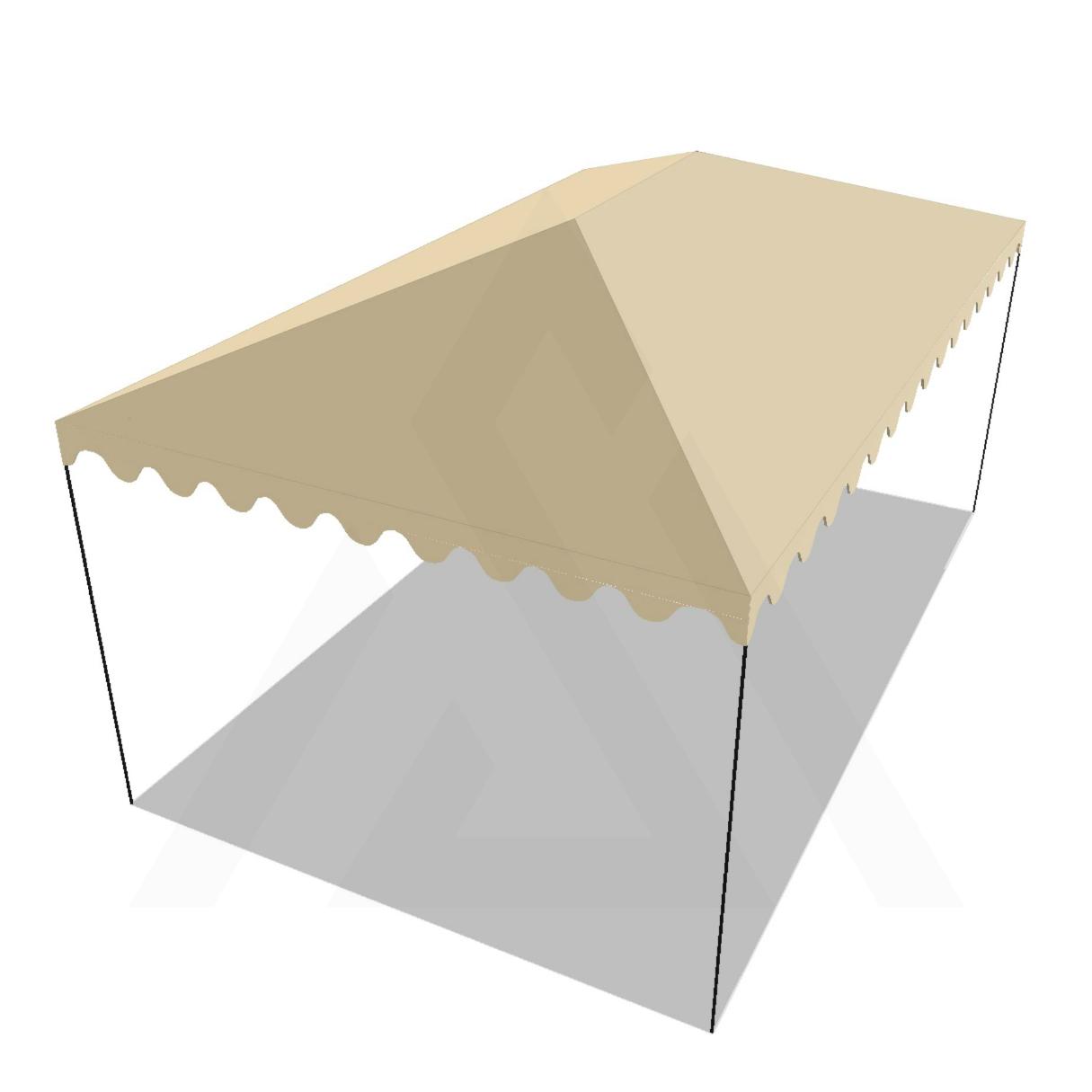 Bâche tonnelle rectangle 4 pentes avec faîtage